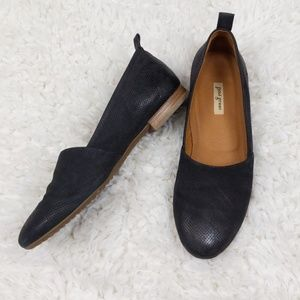Paul Green Black Perforated Leather Flats Size 6.5